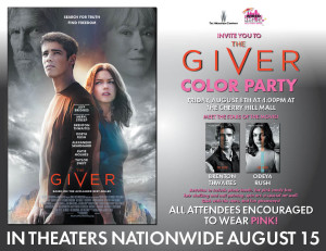 Meet the stars of The Giver in Cherry Hill this Friday. @thegivermovie